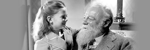 girl and Santa from Miracle on 34th St.